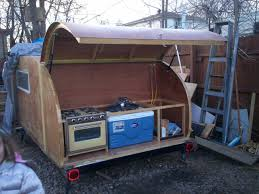 Camper Trailer Kitchen Designs Creative Design How To Build A Teardrop Camper Teardrop Camper