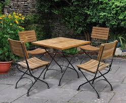 teak folding bistro square 0 8m table 4 side chairs