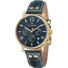es 8001 06 investigator gold green textured leather mens chronograph watch