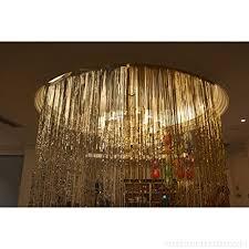 magideal happy retirement bunting 2pcs metallic shiny tinsel fringe window curtain 3m otugs1hox