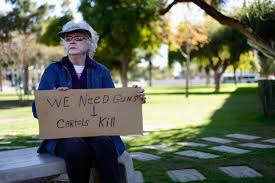 anti gun control sign. Brilliant Gun Katryn Kobor A Progun Supporter Holds Sign During Protest Outside  The Arizona State Capitol In Phoenix Jan 19 Intended Anti Gun Control Sign D