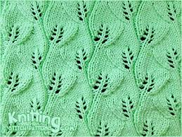 Leaf Knitting Pattern Extraordinary Overlapping Leaves Knitting Stitch Patterns