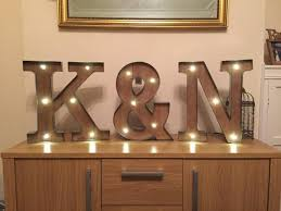 lighting letters. plain lighting freestanding initials wooden rustic 16 and lighting letters e