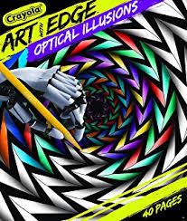 crayola optical illusions coloring book