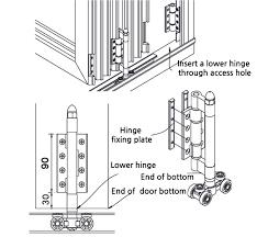 jungsan system folding sliding total hardware system folding
