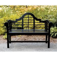 lutyens black bench black outdoor furniture