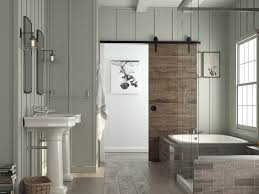 Barn Door In Kitchen Barn Doors For Bathrooms Custom Barn Door Bathroom Mirror