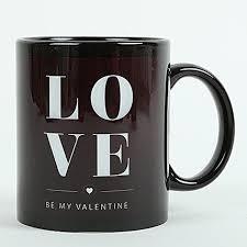 love ceramic black mug gifts to coimbatore