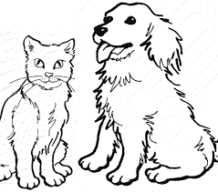Small Picture Coloring Site Cat And Dog Coloring Pages Fresh On Painting Gallery