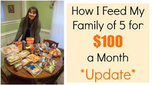Budgeting For A Family Of 4 How I Feed My Family Of 5 For 100 A Month Update Youtube