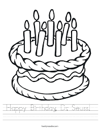 Small Picture Happy Birthday Dr Seuss Worksheet Twisty Noodle