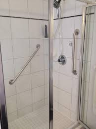 toilet safety bars bathroom shower stall design with stainless frame of glass door complete with