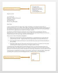 004 Modified Block Format Business Letter Surprising Formatting
