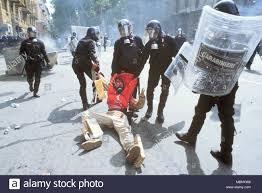 La protesta contro la international summit G8 di Genova (Italia), Luglio  2001 Foto stock - Alamy