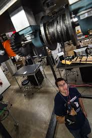 ... Of Their Smart Bells System At The Oshman Engineering Design Kitchen.  They Are Developing The System To Help Keep Athletes Safe During Solo  Workouts.