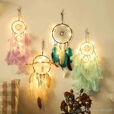Who Sells Dream Catchers Adorable Feather Dream Catcher Mobile LED Fairy Lights Battery Powered