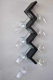 wall mounted wine glass rack by