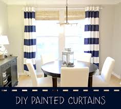 Seaside Interiors Diy Navy Painted Curtains