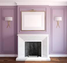 empty fireplace mantel