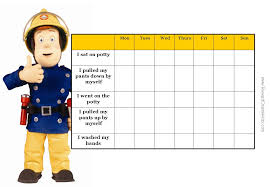daily potty training chart fireman sam charts