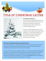 Holiday Newsletter Template Extraordinary Holiday Newsletter Templates Microsoft Hiyaablog