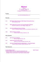 Make A New Resume Free Makeup Artist Resume Entry Level Makeup Artist Resume Objective 84