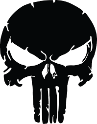X2 - (TWO) The Punisher Skull, Distressed Vinyl Graphic Decal in ...