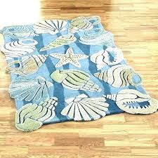 ocean themed rugs beach nautical area for bedroom starfish medium size runner