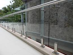 stainless steel handrail and barade ss 316 304 grade square barade with horizontal members manufacturer from rajkot
