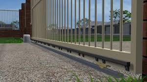 install sliding driveway gates that run