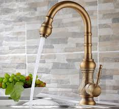 Antique brass kitchen faucet how to use