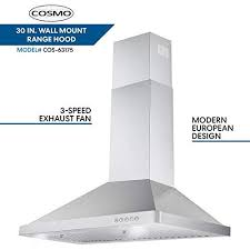 cosmo 63175 30 in wall mount range