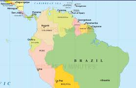 latin america countries and capitals map quiz wall hd  within