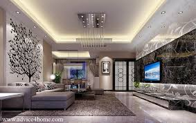 White Pop Ceiling Design Back Floral Wall Sofa