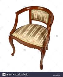 isolated old vintage wood armchair classic italian style