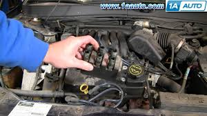 how to install replace engine ignition coil ford taurus mercury 2002 Ford Taurus Spark Plug Wire Diagram how to install replace engine ignition coil ford taurus mercury sable v6 01 04 1aauto com youtube 2002 ford taurus 3.0 spark plug wire diagram