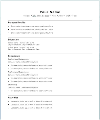 Easy Resume Example Beginner Resume Examples Simple Resume Example ...