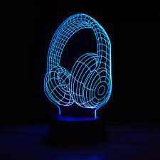 Kulaklık 3D Lamba KIRMIZI