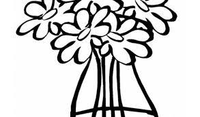 Disegno Di Vaso Con Acqua Da Colorare Per Bambini Con Mazzo Di Fiori
