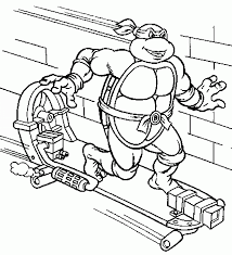 Small Picture Ninja Turtles Coloring Pages
