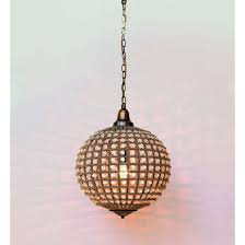 hanging lamp chehoma ball with pearls