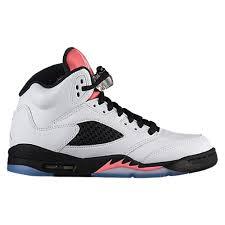 basketball shoes for girls jordans. jordan retro 5 - girls\u0027 grade school basketball shoes white/white/sunblush/black for girls jordans g