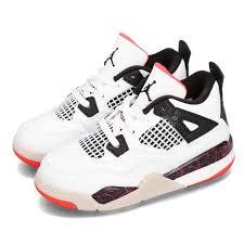 Details About Nike Jordan 4 Retro Td Bright Crimson Hot Lava Toddler Infant Shoes Bq7670 116