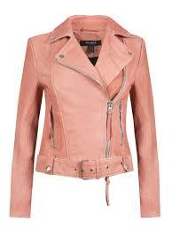 muubaa holmedale pink leather biker jacket