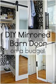 diy mirrored barn door on a budget in diffe photos