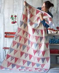 50 Free Quilting Patterns you Have to Make - Hobbycraft Blog & candy bloom bunting quilt Adamdwight.com