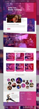 best ideas about website templates salon sports and fitness website template psd