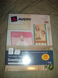 Avery 3378 Template Avery Consumer Productshalf Fold Cards Textured Card Size 5 1 2x8 1 2 White