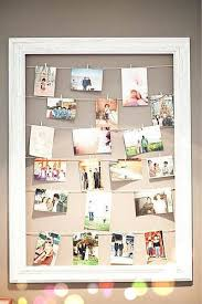 Shabby Frame Clothespins Photo Wall Hanging Family Photo Display