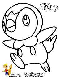 Small Picture Pokemon Piplup Coloring Pages Free 10 olegandreevme